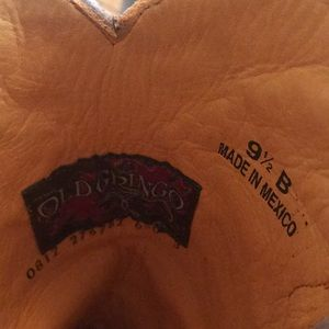 Old Gringo Shoes - Old Gringo Light Tan Embroidered Boot Size 9 1/2